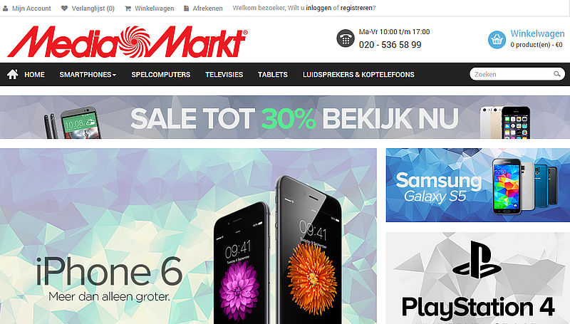 'Mediamarkt.nl.mediamarkt-actie.com niet van echte Mediamarkt'