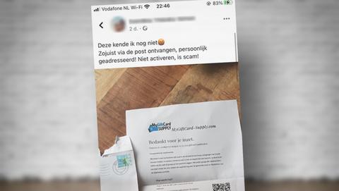 Brief van 'MyGiftCard-Supply' met een giftcard van je werkgever: is dat oplichting?