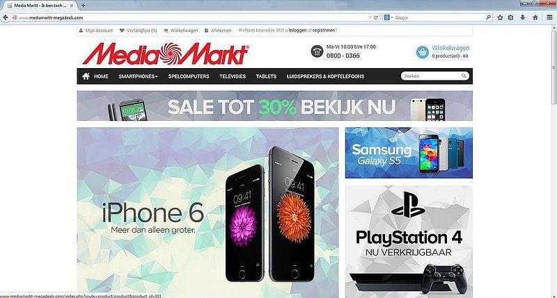 'Mediamarkt-megadeals.com adverteert op gehackte Marktplaats-accounts'