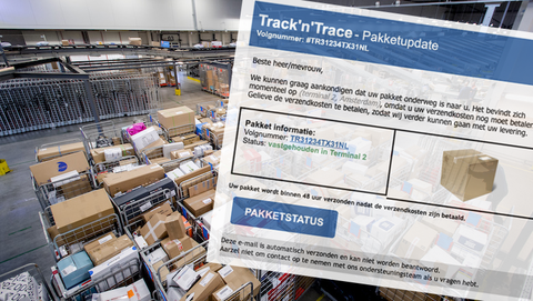 Mail met valse Track & Trace-code? Dat is creditcardfraude
