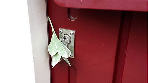 Pas op voor inbrekerstruc: takje bij voordeur