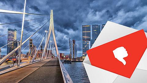 Valse brief in Rotterdam in omloop