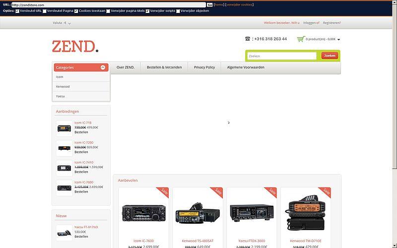 'Pas op voor zendstore.com'