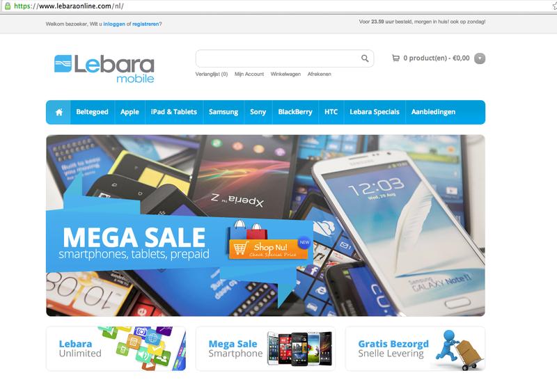 'Lebaraonline.com is een nep-webshop!'