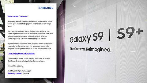 Pas op voor valse winactie van 'Samsung' over nieuwe telefoon