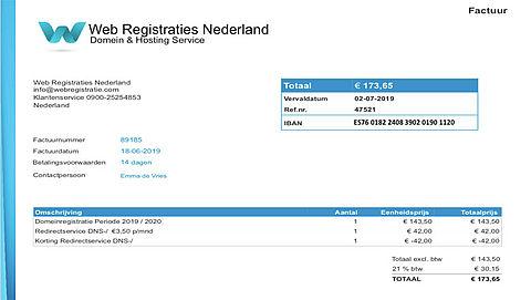 'Web Registraties Nederland' spookfacturen nog steeds in omloop