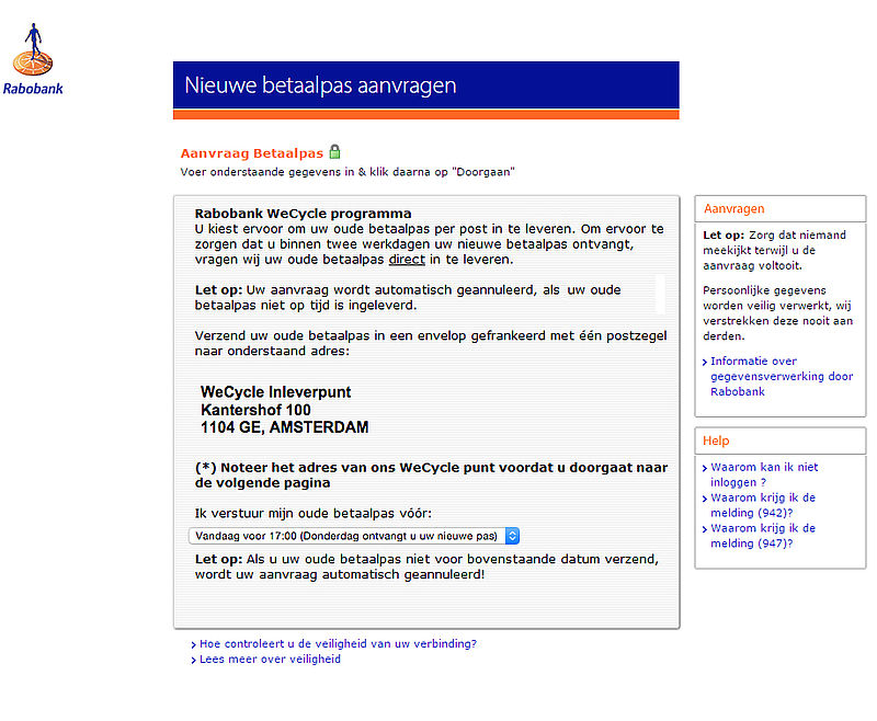 Valse e-mail Rabobank: 'Nieuwe RSA-betaalpas'