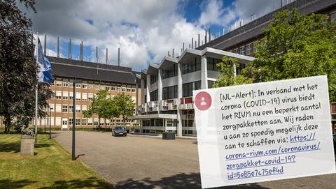 Gevaarlijk 'NL-Alert' namens het RIVM over zorgpakket tegen coronavirus in omloop