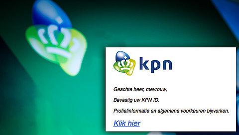 Afzender e-mail 'KPN' vist naar inloggegevens