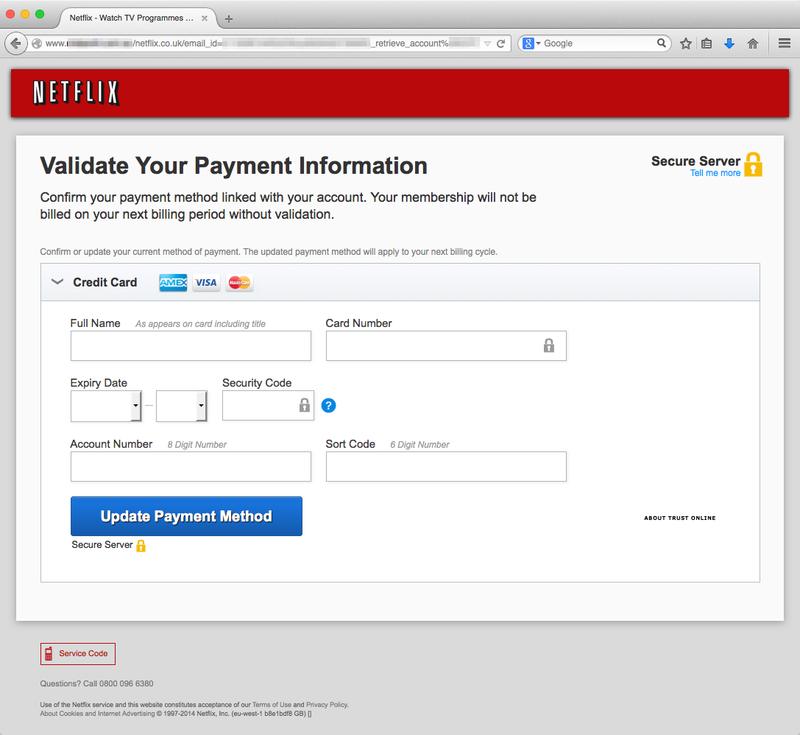 Netflix-gebruikers doelwit phishing-aanval