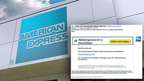 Let op! Valse e-mail 'American Express' in omloop