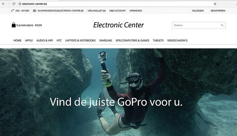 Politie waarschuwt voor electronic-center.be
