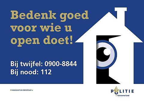 Politie Groningen waarschuwt voor babbeltruc