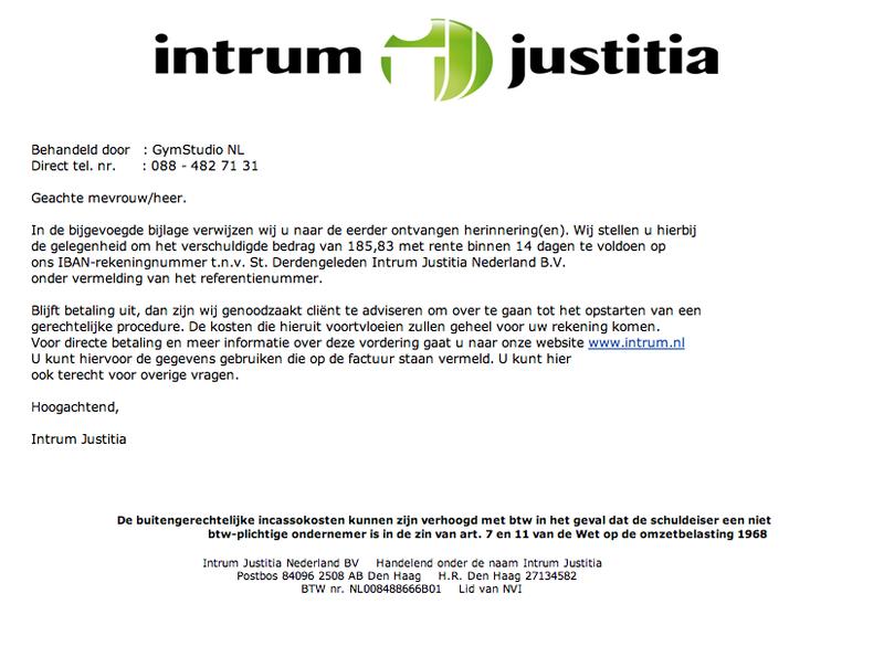 Valse mail Intrum Justitia in omloop!