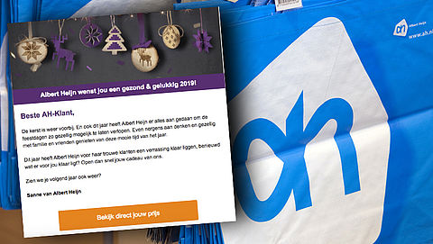 E-mail van 'Albert Heijn' over verrassing voor trouwe klanten is vals