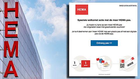 Winactie 'HEMA' over klantenpas is vals