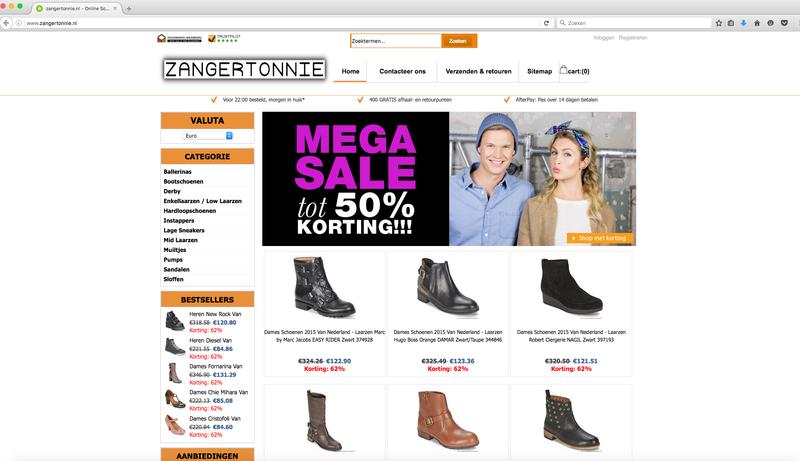 Zangertonnie.nl misbruikt logo Thuiswinkel.org