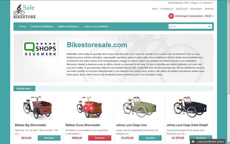 'Bikestoresale.com misbruikt keurmerk'