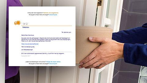 Valse e-mail uit naam PostNL: 'Nieuwe bezorgafspraak'