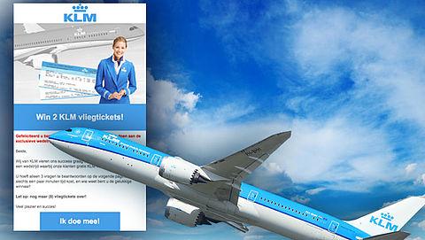 E-mail 'KLM' over gratis vliegtickets blijkt misleiding