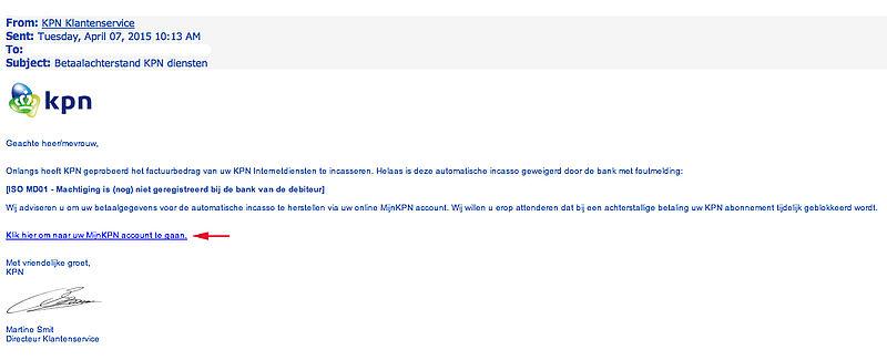 Valse e-mail KPN in omloop