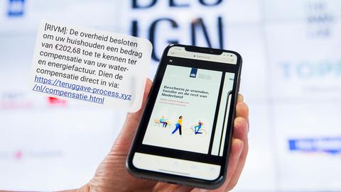 Valse sms'jes namens het RIVM: 'U krijgt €202,68 ter compensatie van uw water- en energiefactuur'