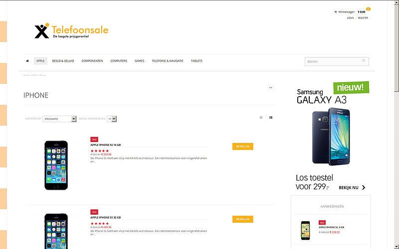 'Pas op voor webshop telefoonsale.com'