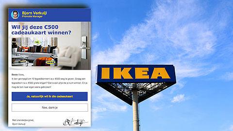 Pas op voor valse winactie uit naam van IKEA