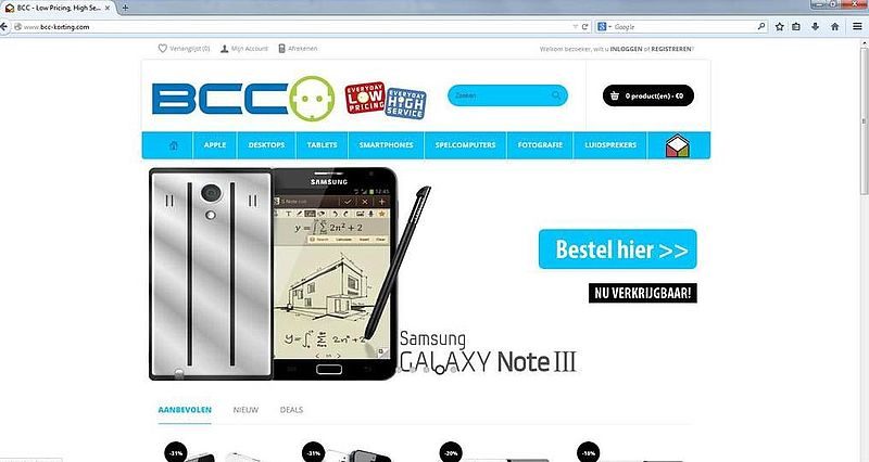 'Bcc-korting.com is nep'