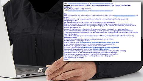 Nieuwe meldingen over de 'porno-afpersmail'