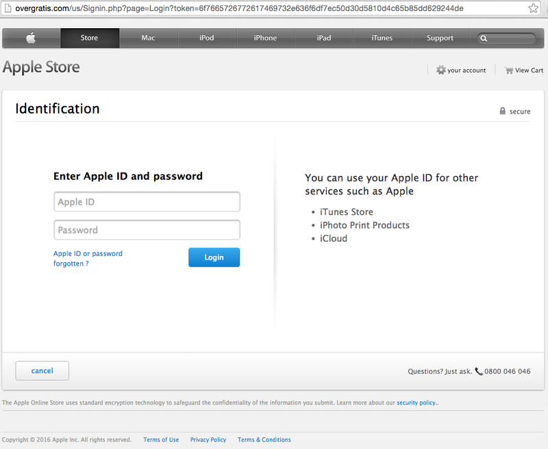 Phishing: 'Verify your Apple ID'