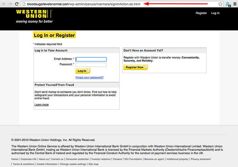 Phishingmail Western Union: 'e-mailadres gewijzigd'