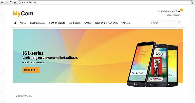'Doe geen aankopen bij nepversie van webshop MyCom'