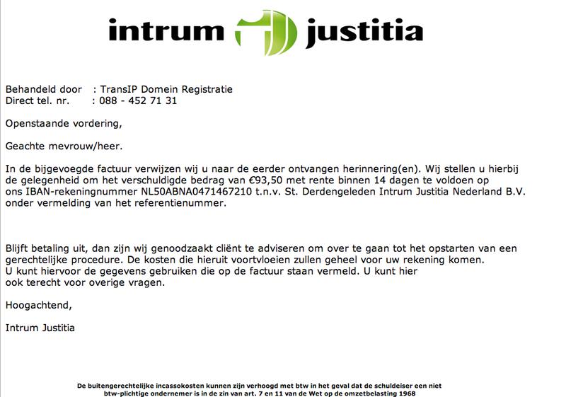 Opnieuw valse mails Intrum Justitia