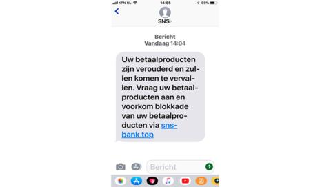 Verwijder sms-bericht van 'SNS' over verouderd betaalproduct