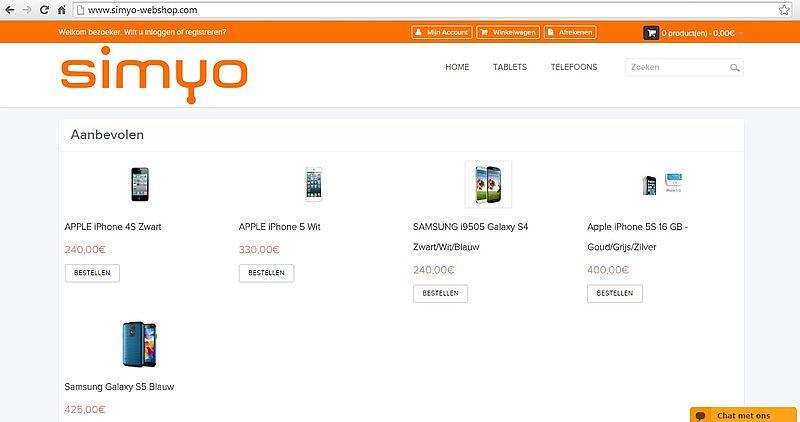 'Simyo-webshop.com maakt misbruik van de KvK-gegevens van Simyo'