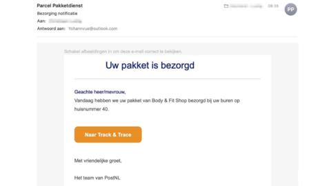 PostNL waarschuwt voor verdachte e-mail