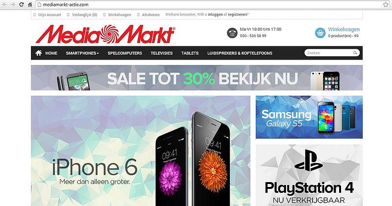 'Mediamarkt-actie.com misbruikt gegevens echte Media Markt'
