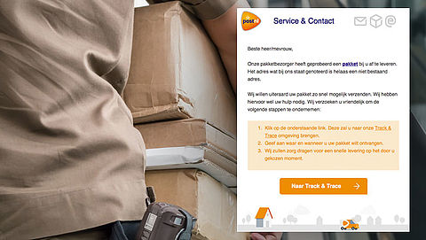 Valse e-mail PostNL: 'Uw pakket is ontvangen'