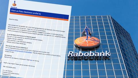 Mail van 'Rabobank' met de koptekst 'Werk uw Rabo Bankieren profiel bij' is vals