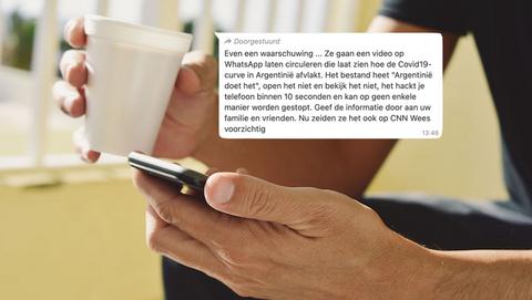 WhatsApp-kettingbericht over Argentijnse bestrijding coronavirus is een hoax: 'Je telefoon wordt binnen 10 seconden gehackt'