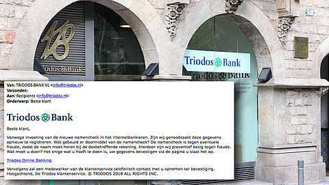 Trap niet in valse e-mail 'Triodos' over invoeren namencheck