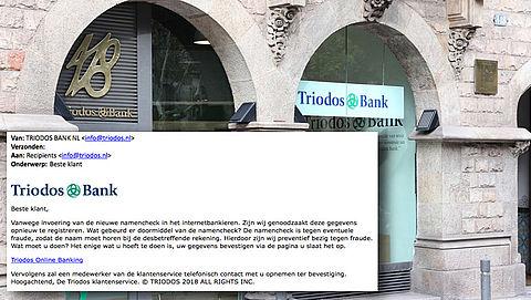 Trap niet in valse e-mail 'Triodos' over invoeren namencheck