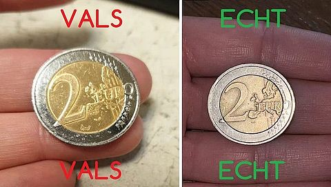 Kijk uit voor vals geld: er zijn valse muntstukken van 2 euro in omloop