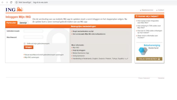 Applicatiegebruik valideren voor 'ING' mobiel bankieren? Trap er niet in!