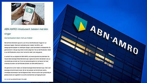 Phishingmail 'ABN AMRO' over vernieuwd mobiel bankieren