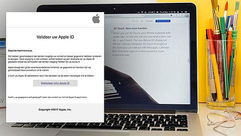 Vals bericht over valideren Apple ID in omloop