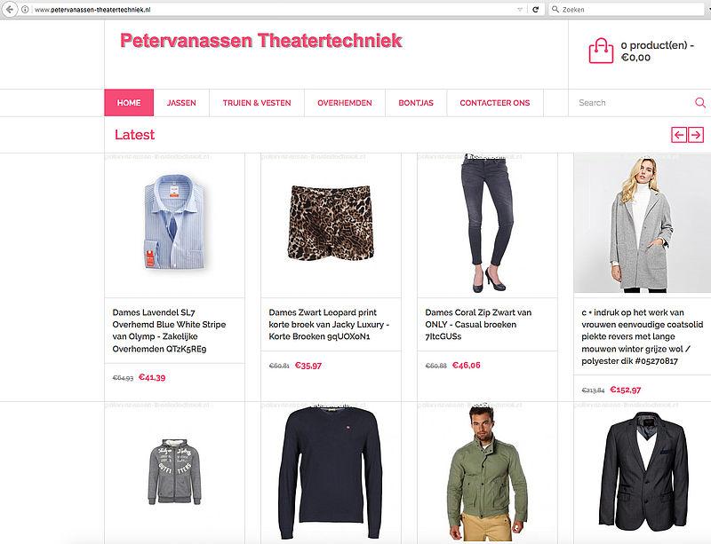 Politie waarschuwt voor petervanassen-theatertechniek.nl