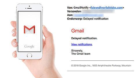 Bericht 'GmailNotify' is phishing