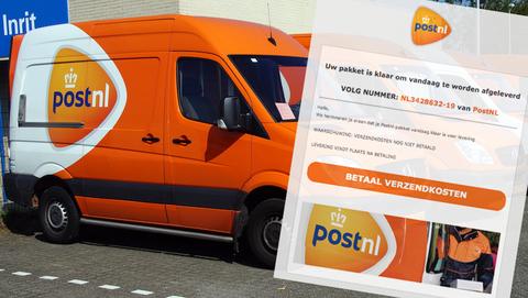 Betaalverzoek van 'PostNL' betreft creditcardfraude